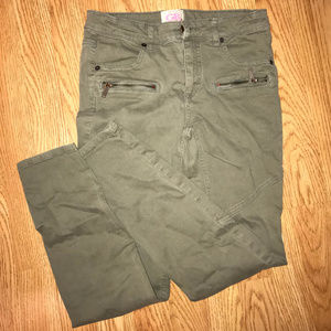 GB girls Brown Jeans w/ Zip Pockets (Size 14) NWOT